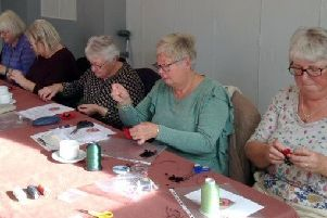Poppy craft at Spa Afternoon WI EMN-181119-100347001