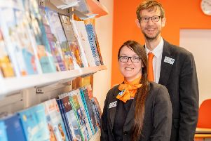 Horncastle Travel Manager Lisette Barnes and Assistant Manager Paul Newton. Picture: John Aron.