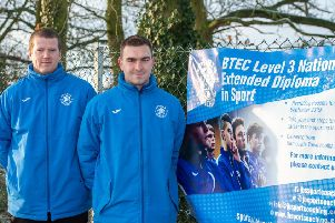 Steve Brown (left) and Ollie Johnson - delivering a sporting chance for local teenagers