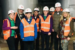 LVS Hassocks students at the Veolia facility in Newhaven