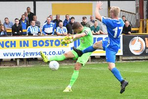 George Willis in action against Chester.