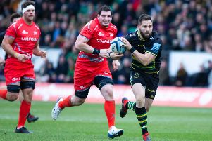 Cobus Reinach scored twice as Saints beat Sale (picture: Kirsty Edmonds)