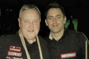 Nigel Coton with Ronnie O'Sullivan.