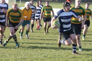 Adam Stacey races away to score for Leighton 2nds