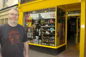 Gareth Skinner, of Nevermind The Music Store, in 2014.
