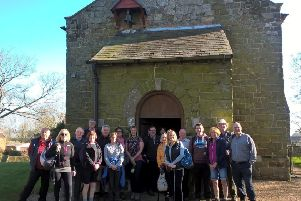 The walk started at  St Peter and St Paul, Belchford