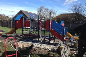 The work at the Coronation Walk play area was due to be completed today (Wednesday). EMN-190403-141827001