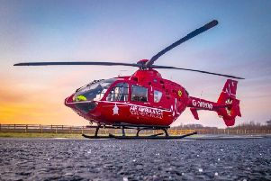 The air ambulance. (Archive pic)