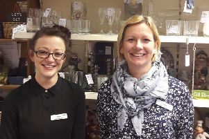 Woodhall Spa Shop Manager Alice Bell and Sales Assistant Jane Eglin. EMN-191103-100725001