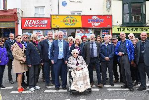 The plaque was unveiled in Osborne Road, Southsea. Picture: Malcolm Wells (190320-5199)