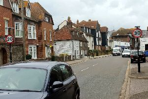 Mark Phillips's photo of the speed limit signs in Queen Street, Arundel