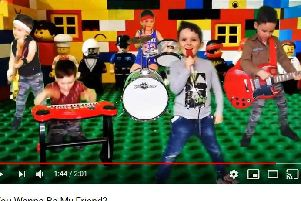 Noah Langley performs his song 'Do You Wanna Be My Friend'  in the music video.