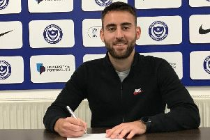 Ben Close signs a new Pompey deal until the summer of 2021. Picture: Portsmouth FC
