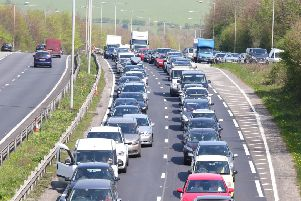 Queuing traffic at the scene