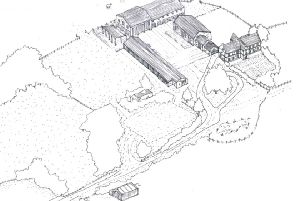 Illustrative plans for the heritage centre.