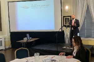 Lincolnshire PCC Marc Jones outlines the new Victims Strategy at the conference on Friday. EMN-190429-120010001