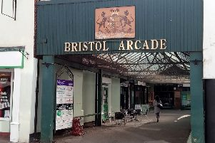 Bristol Arcade, which bears the coat of arms of the Marquis of Bristol. EMN-190705-122745001