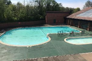 The outdoor swimming pool at Abbey Fields in Kenilworth.
