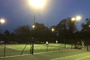 The lights on and somoene's at home at Midhurst Tennis Club