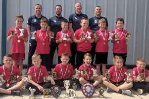 The successful Horncastle under nines squad.
