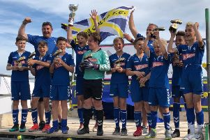 Felpham Colts U11s - age group winners and runners-up in the U12 contest