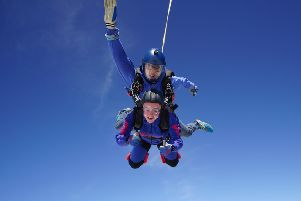 Rosie Finney, from Horncastle Young Farmers, completed a charity sky dive on Saturday. EMN-190617-133534001