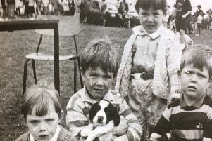 The Greer family - Noleen, Samuel, Denise and Ian - at the Children's Pet Show in Markethill in 1988