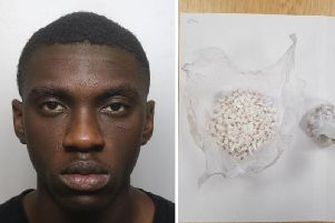 Lawrence Boateng was caught after he chucked away a package of drugs worth up to 7,000.