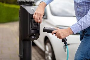 Library image of a kerbside charging point