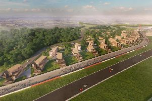 An artist's impression of the 'Residences at Silverstone' scheme