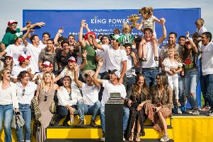 Dubai's fans celebrate their Gold Cup win / Picture by Mark Beaumont