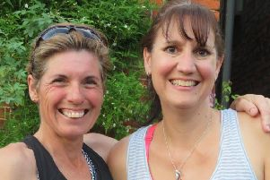 Emma Marshall-Telfer, right, and fellow volunteer Louise Darrington will be running100 miles in 30 hours as part of the Robin Hood 100 Trail. EMN-190730-164508001