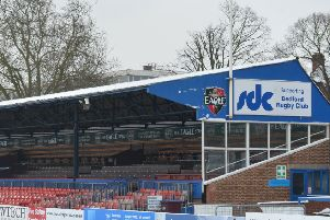 b13-049 Bedford Blues train in the snow as match cancelled due to snow.''Goldington Road ENGPNL00220130120141524