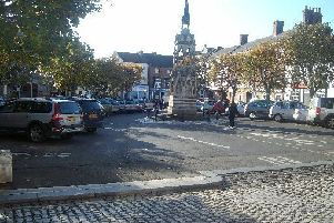 Horncastle Market Place - Police say there are no major issues regarding anti social behaviour