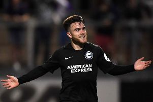 Aaron Connolly scored on his full debut for Brighton