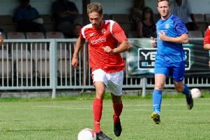 Ash Hawkes missed a chance to fire Arundel ahead against Ramsgate. Picture by Stephen Goodger