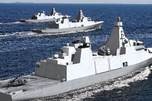 Babcock has won the contract for the Royal Navy's new fleet of Type 31 frigates. Picture: Babcock