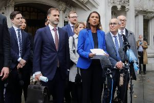 Campaigner Gina Miller speaks outside the Supreme Court (Photo by Tolga AKMEN /AFP/Getty Images)