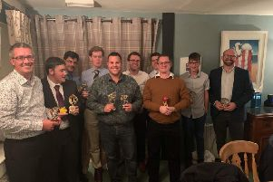 The 2019 Horncastle Cricket Club award winners.