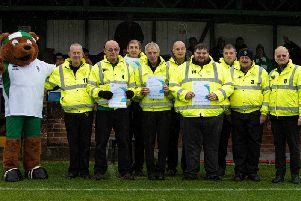 Bognor's team of stewards with Rocky the Bear / Picture by Tommy McMillan