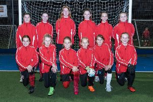 Horncastle Town under 12 girls in their new kit.