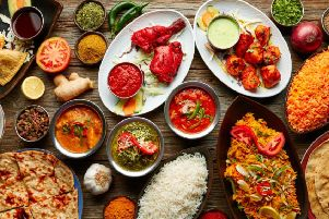 Indian restaurant food (stock image)