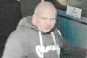 A man believed to be David Calder, pictured in Horncastle on New Year's Eve.