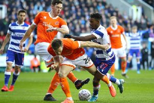 Ben Heneghan in action for Blackpool this season