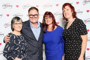Alan Carr with the local Slimming World consultants