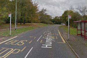 Police reoprted the girl had been raped shortly after getting off at this bus stop in Hunsbury Hill Road.