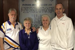 Horncastle's Mary Johnson and Keith Jackman (right) defeated Sleaford pair Richard Barnes and Gloria Davies in the semi-finals.