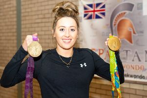 Jade Jones with her medals.