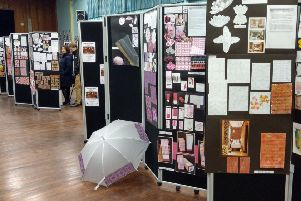 The art exhibition featured various pieces of work by National 5, Higher and Advanced Higher pupils