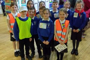 Some of the P3 pupils that helped to organise the Art Gallery event
